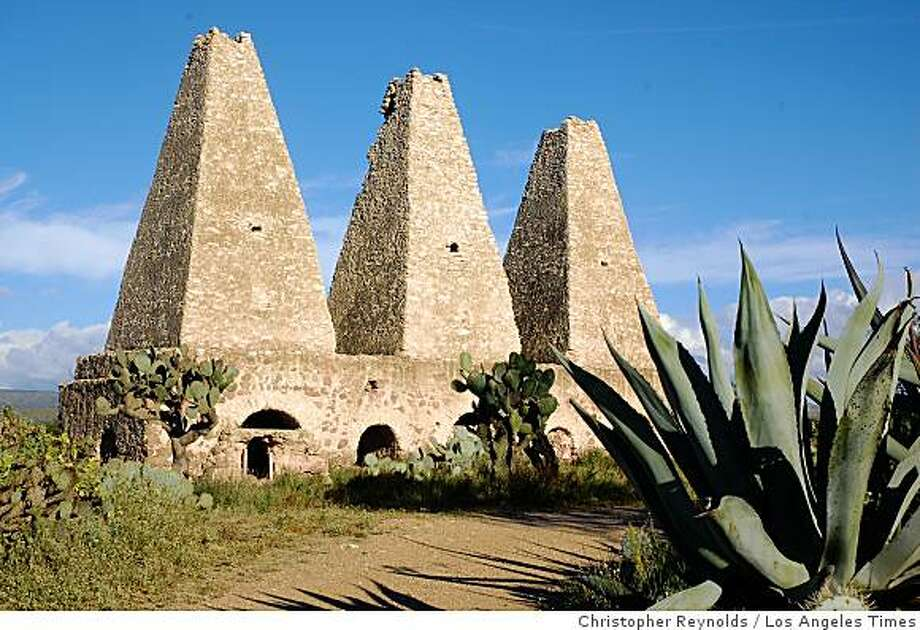 POZOS, MEXICO:  The Santa Brigida mine, now a ruin on the edge of Pozos, includes three towering stone ovens that resemble pyramids. Photo: Christopher Reynolds, Los Angeles Times