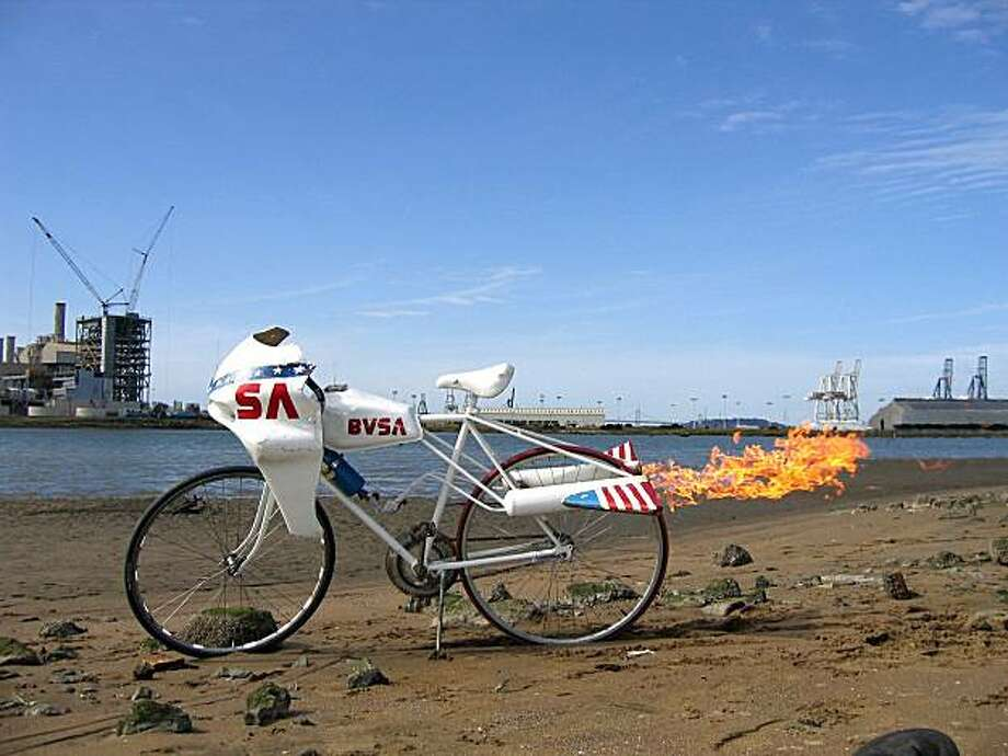 """Jason """"Jay"""" Broemmel's """"Rocket Bike"""" is one of the tributes to creative manipulation of manufactured reality on view at TechnoCRAFT. Photo: Courtesy Of The Artist"""