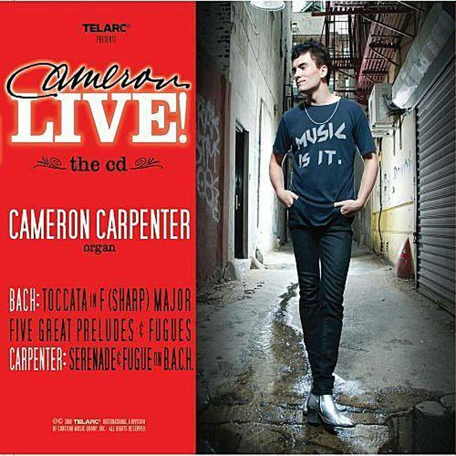 "CD cover: Cameron Carpenter's ""Cameron Live!"" Photo: Telarc"