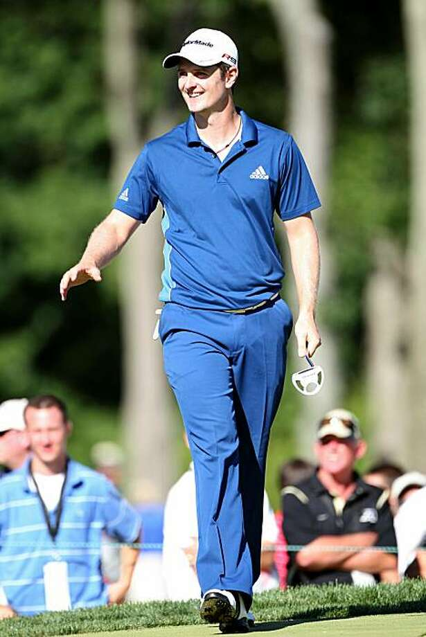 NEWTOWN SQUARE, PA - JULY 02:  Justin Rose of England reacts on the 16th green during the second round of the AT&T National at Aronimink Golf Club on July 2, 2010 in Newtown Square, Pennsylvania. Photo: Hunter Martin, Getty Images