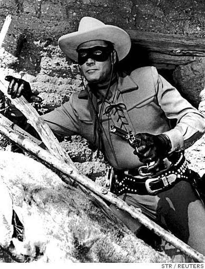 "Clayton Moore in ""The Lone Ranger"" Photo: STR, REUTERS"