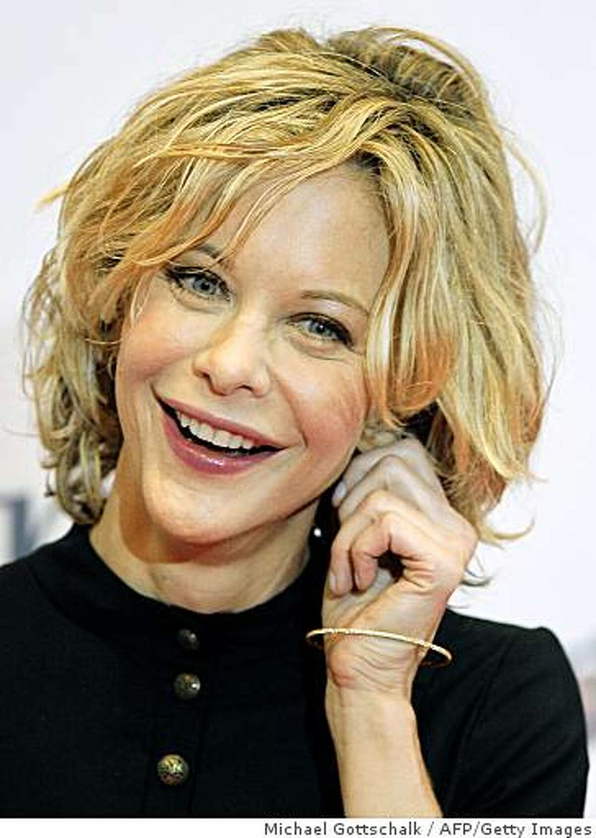 """Meg Ryan just listed her Bel-Air house at $19.5 million. US actress Meg Ryan poses during a photocall for the movie """"The Women,"""" produced by Mick Jagger, on November 26, 2008 in Berlin. Meg Ryan will get a German lifetime achievement """"Bambi"""" award for best international actress and will pick up the statuette at the gala ceremony in Offenburg, southern Germany, on November 27, 2008. AFP PHOTO DDP/ MICHAEL GOTTSCHALK GERMANY OUT (Photo credit should read MICHAEL GOTTSCHALK/AFP/Getty Images)"""