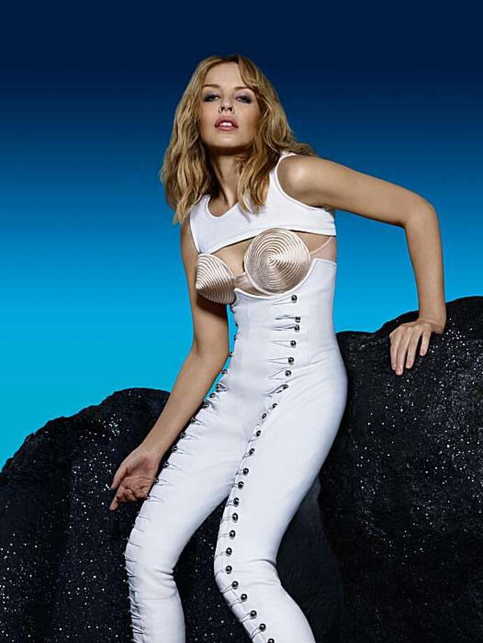 Kylie Minogue, possibly regretting her rock climbing outfit Photo: William Baker