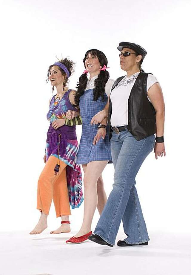 "From left, Amelia Mae Paradise, Sarah Mosby and Helena J. in ""Left of Oz,""  a lesbian musical comedy by Stephanie Reif (writer, director, composer, lyricist). July 2-18. Ashby Stage, 1901 Ashby Ave., Berkeley. $25 ($50 VIP with cast party, poster and CD).(800) 838-3006, www.brownpapertickets.com, www.leftofoz.com. Photo: Kent Taylor Photography"