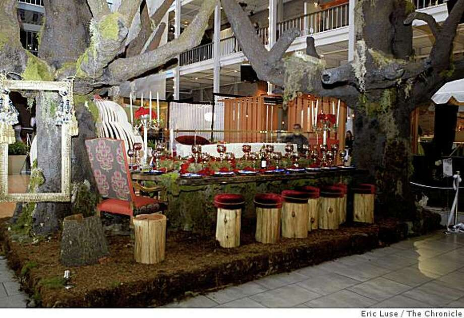Ken Fulk design with the big trees.  Dining by Design tables created by area designers in San Francisco, photographed on Friday, November 22, 2008. Photo: Eric Luse, The Chronicle