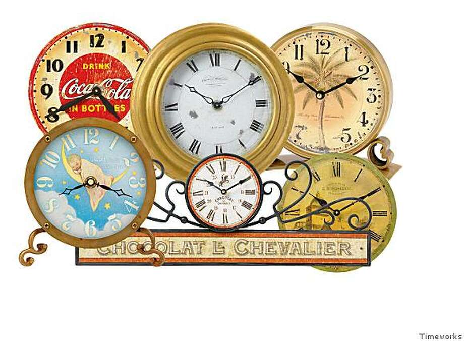 A sample of Timeworks clocks. Photo: Timeworks