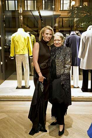 Denise Hale with Jennifer Siebel Newsom at the store's opening party Nov. 10, 2009, in San Francisco. Photo: Drew Altizer