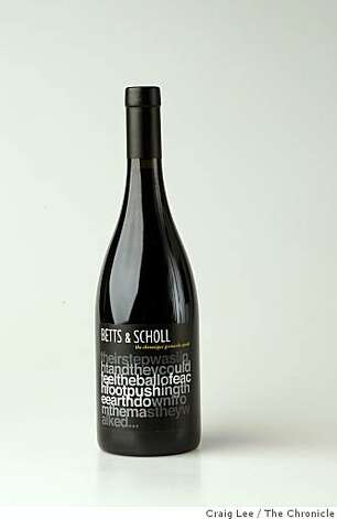 Betts & Scholl wine , in San Francisco, Calif., on November 21, 2008. Photo: Craig Lee, The Chronicle