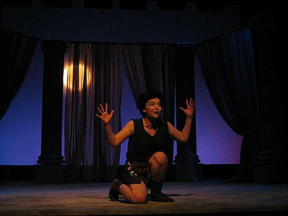 "Elizabeth Berg plays Puck in CTC Summer Rep's ""A Midsummer Night's Dream"" at Sunnyvale Theatre Photo: Benjamin Brotzman"