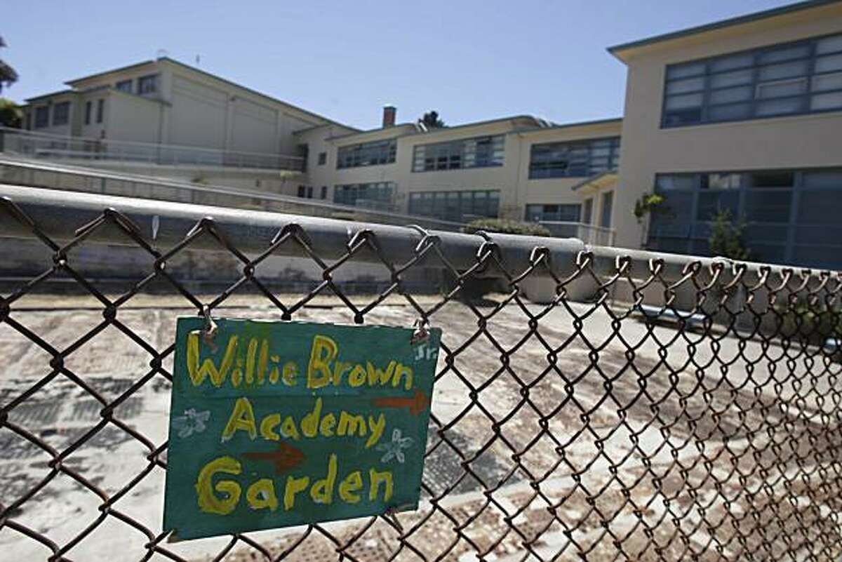Part of Willie L. Brown, Jr. College Preparatory Academy is seen in San Francisco, Calif. on Friday July 2, 2010. The San Francisco School Board has decided to close Willie L. Brown, Jr. College Preparatory Academy.