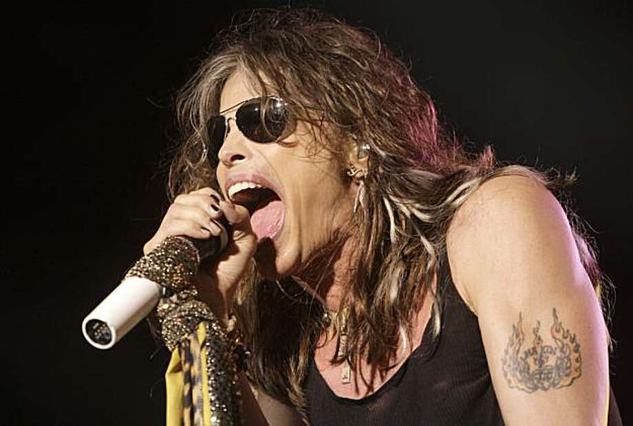 FILE - In this June 10, 2009 file photo, lead singer Steven Tyler of the rock band Aerosmith performs at the Verizon Wireless Amphitheatre in Maryland Heights, Mo. Photo: Jeff Roberson, AP