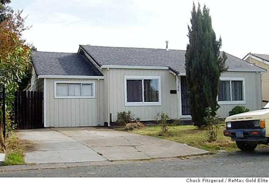 This 2-bedroom, 1-bathroom house in Vallejo is listed for $79,900. Photo: Chuck Fitzgerad, ReMax Gold Elite