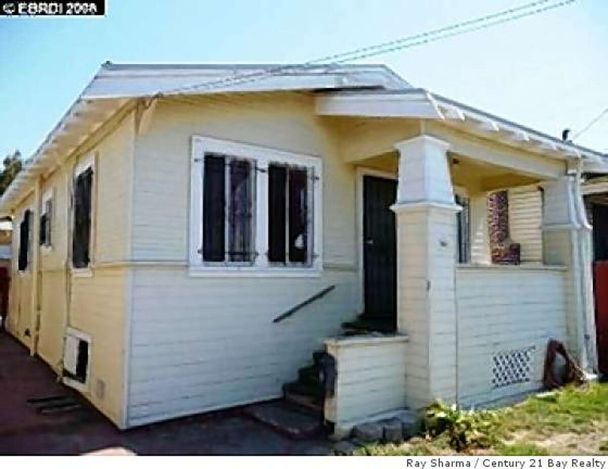 Priced at $79,900, this house on Oakland's Rudsdale St. has two bedrooms and one bath.