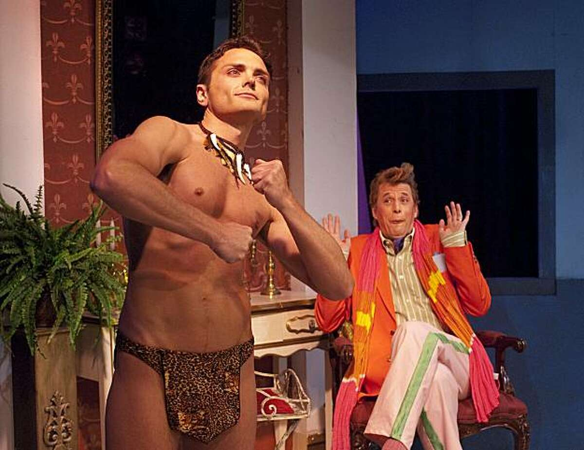 """Seth Michael Anderson (left) as Shane and Patrick Michael Dukeman as Mr. Charles in Paul Rudnick's """"The New Century"""" at New Conservatory Theatre Center"""