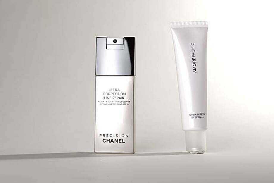 New sunscreens by Chanel and Amore Pacific. Photo: Russell Yip, The Chronicle