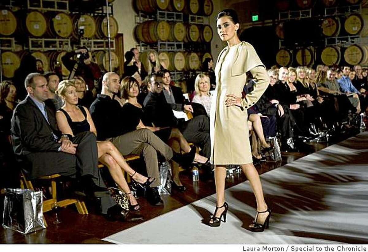 Models walk the runway in fashions at Bryant Park West, a charity fashion show at Jacuzzi Winery in Sonoma, Calif., on Saturday, November 22, 2008.