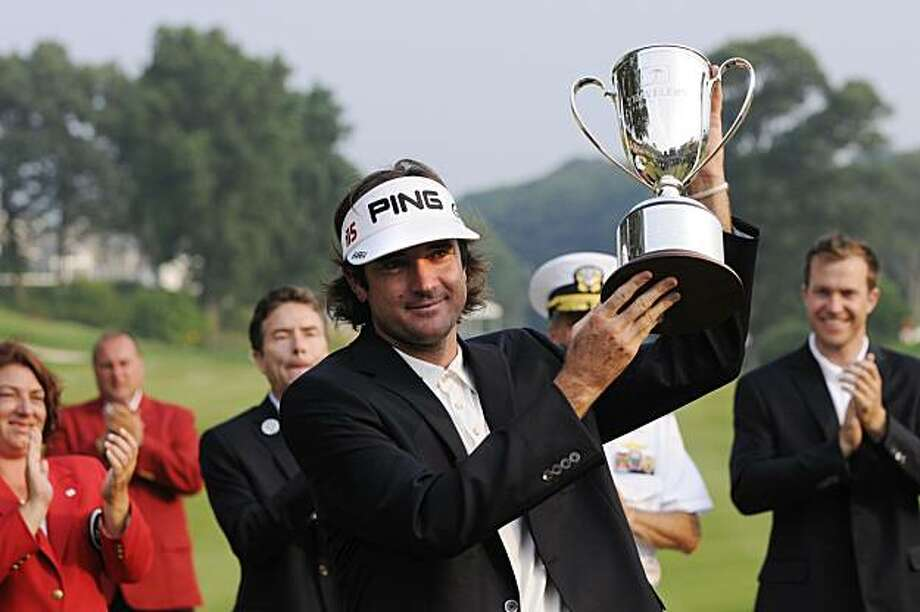 Bubba Watson wins the Travelers Championship on Sunday, June 27, 2010 at the TPC River Highlands in Cromwell, Connecticut. (Patrick Raycraft/Hartford Courant/MCT) Photo: Patrick Raycraft, MCT