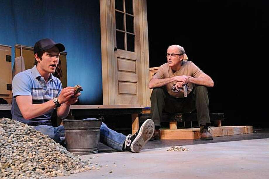 """Max Rosenak (left) is the young actor Miles, and Warren David Keith is the farmer Angus in Michael Healey's """"The Drawer Boy"""" with TheatreFirst Photo: Jay Yamada"""