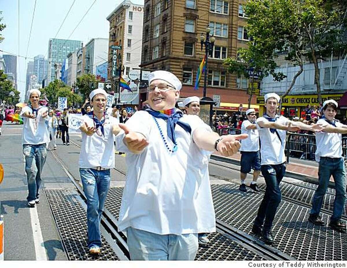 Members of SFGMC at the SF Gay Pride Parade, June 29, 2008