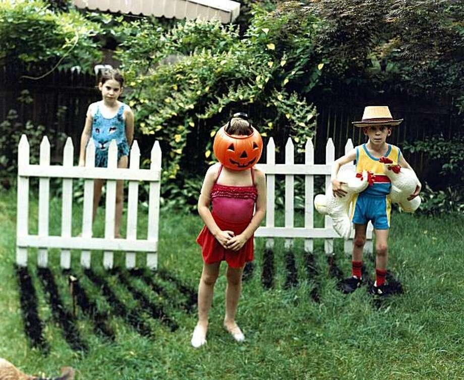 """Pumpkin Kids,'' from ""The Backyard"" series by Chris Schiavo. Photo: Chris Shiavo"
