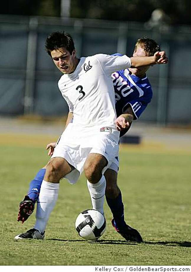 Andrew Wiedeman, Cal soccer, against SMU, Sept. 7, 2008, in Berkeley. The game ended a 1-1 tie. Photo: Kelley Cox, GoldenBearSports.com
