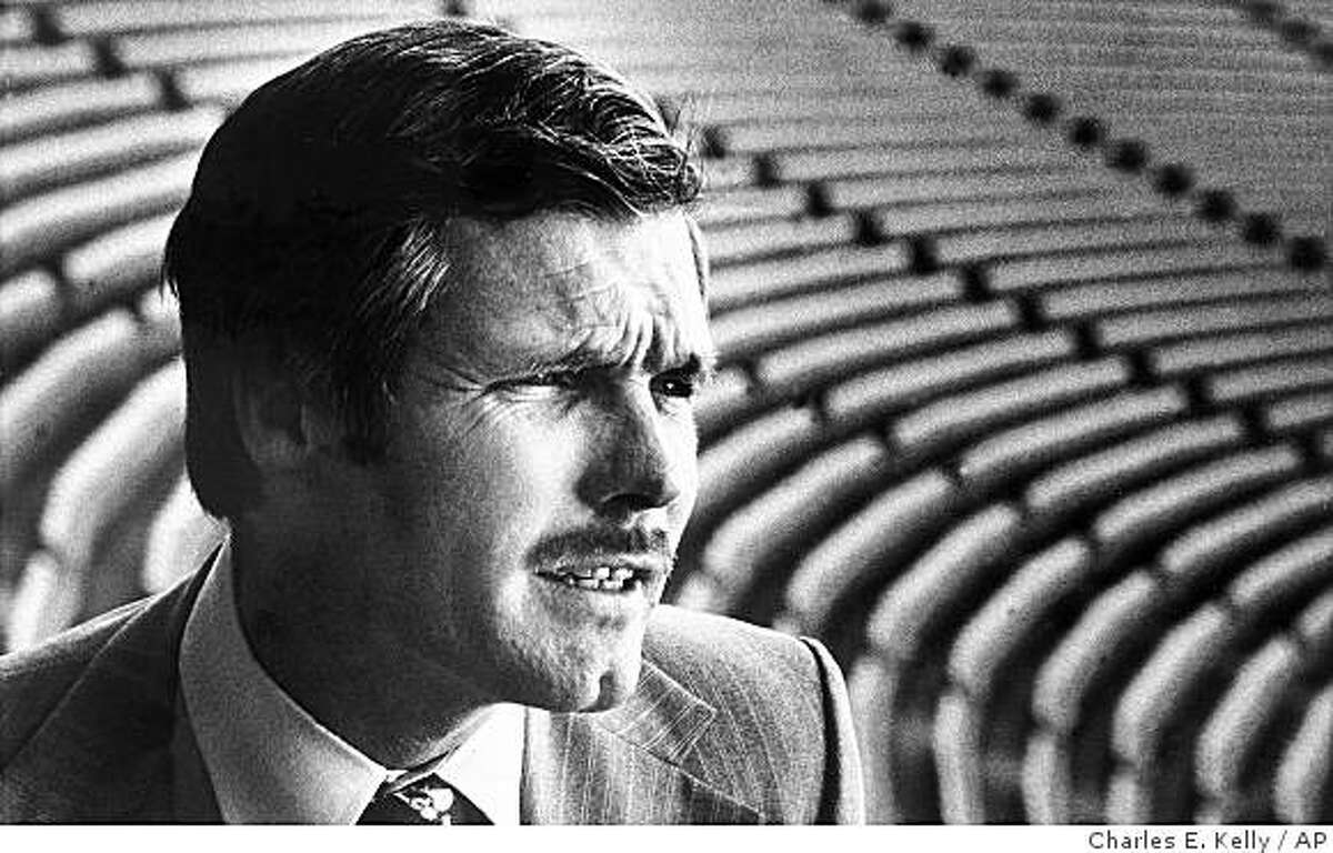 """Robert Edward """"Ted"""" Turner is pictured amid the array of empty seats at Atlanta Stadium, Feb. 25, 1976. The communications billionaire recently bought the Atlanta Braves."""