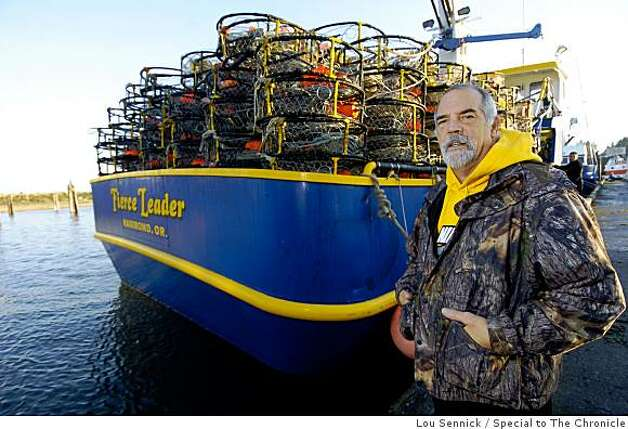 Dennis Sturgell is a fisherman from Oregon who competes with Bay Area crabbers and Washington crabbers and Alaskan crabbers alike. He is ready to head out for another Dungenous crab season onboard his fishing vessel Fierce Leader docked in Charleston, Oregon. Photo: Lou Sennick, Special To The Chronicle