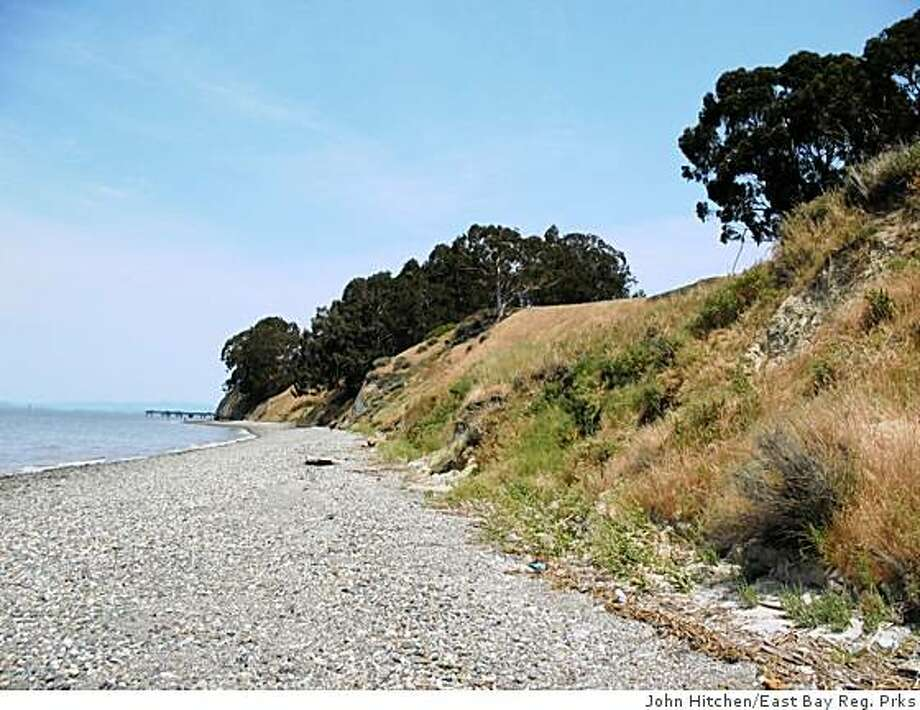 The northwest shoreline at Point Pinole Regional Parks is just below the bike trail. The cobble beach is among the best of its kind in the Bay Area, and the view from here is what makes this EBRP special Photo: John Hitchen/East Bay Reg. Prks