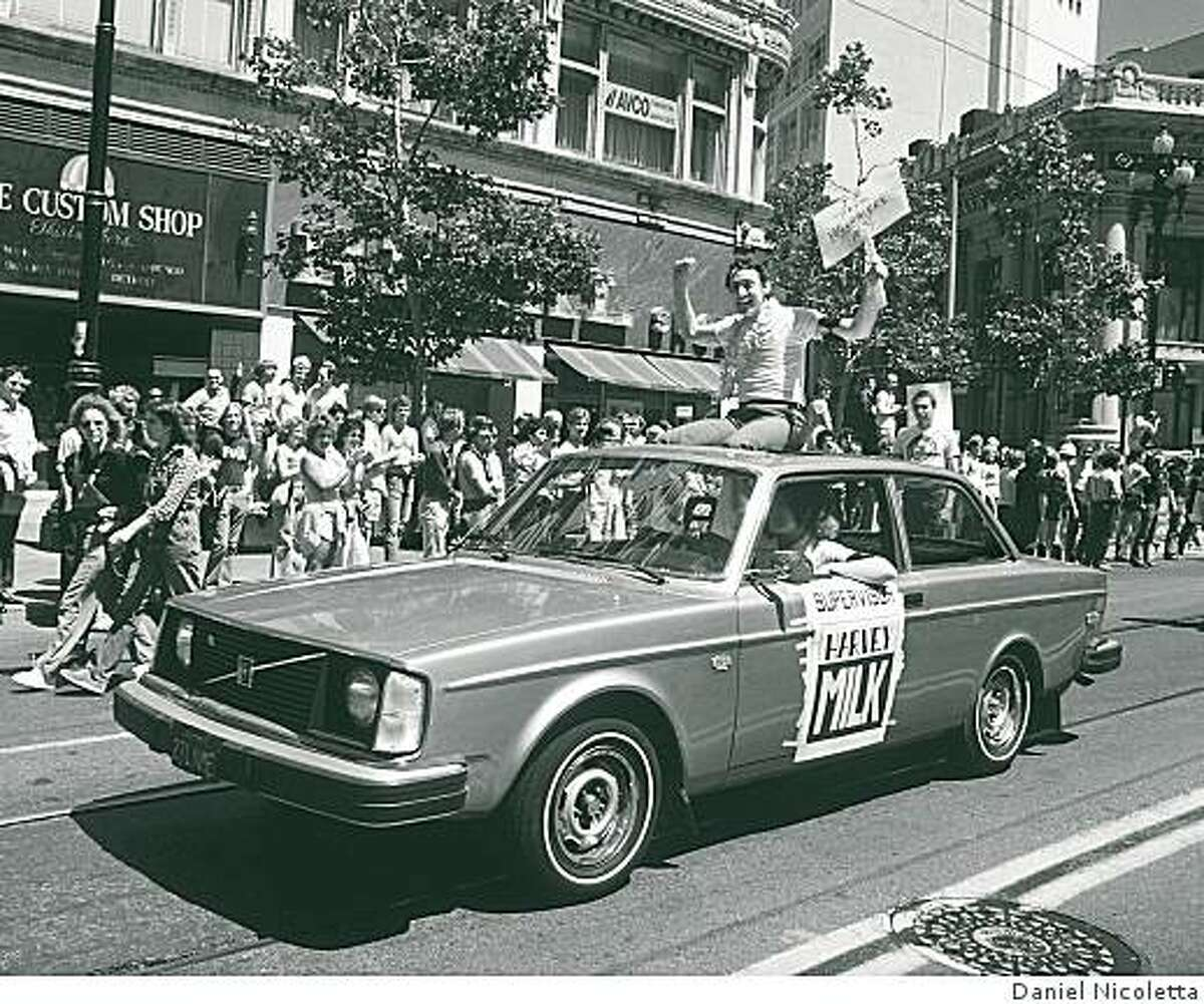 Supevisor Harvey Milk in The San Francisco Gay Freedom Day Parade, June 25, 1978