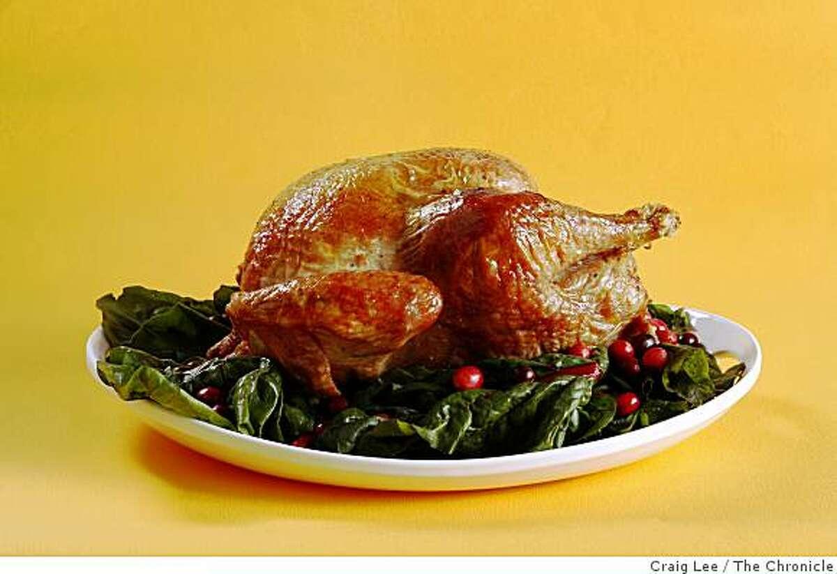 Roast turkey, in San Francisco, Calif., on November 13, 2008.