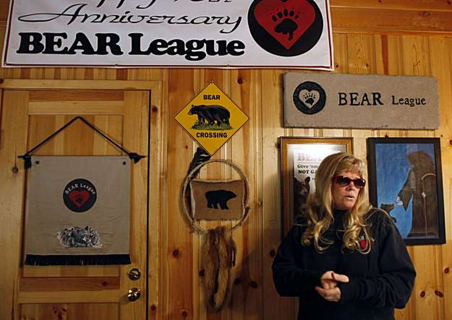 Ann Bryant, founder of the BEAR League, is seen in her home office in Homewood, Calif., on Wednesday, June 16, 2010. Bryant's group works to deter black bears from invading homeowners' property throughout the Lake Tahoe basin. Photo: Paul Chinn, The Chronicle