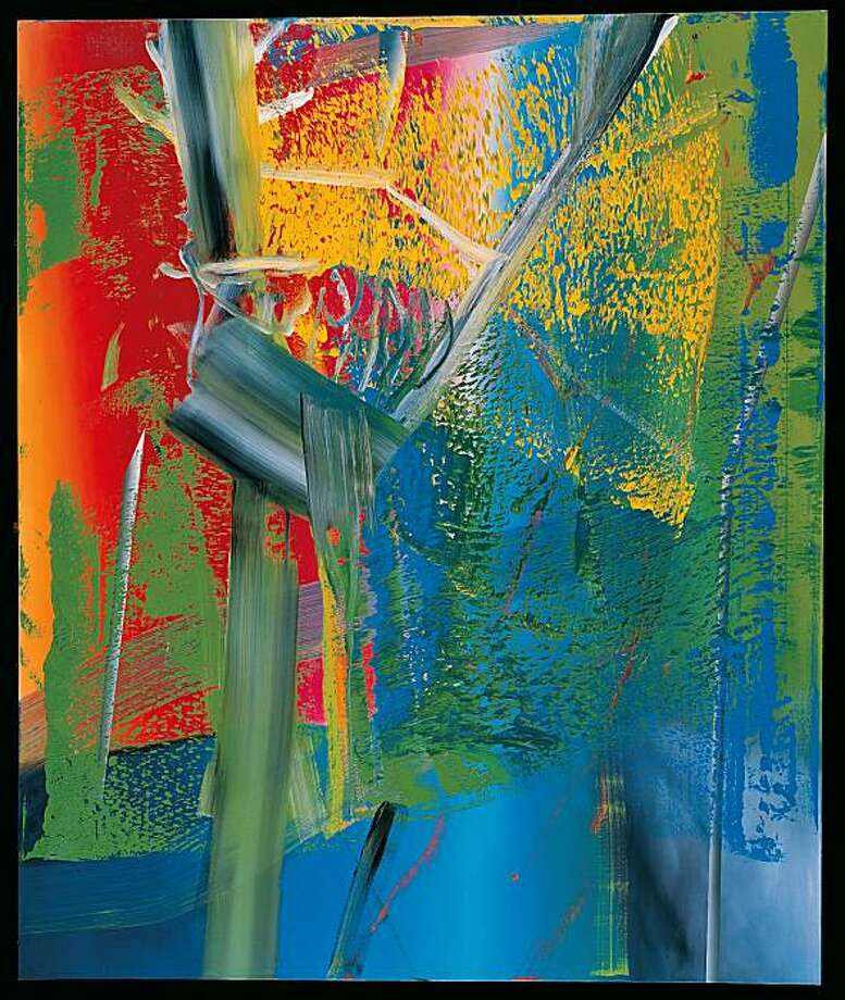 "Janus 1983, oil on canvas, 9' 10 1/8"" x 98 3/8"" by Gerhard Richter Photo: Gerhard Richter, Doris & Donald Fisher Collection"