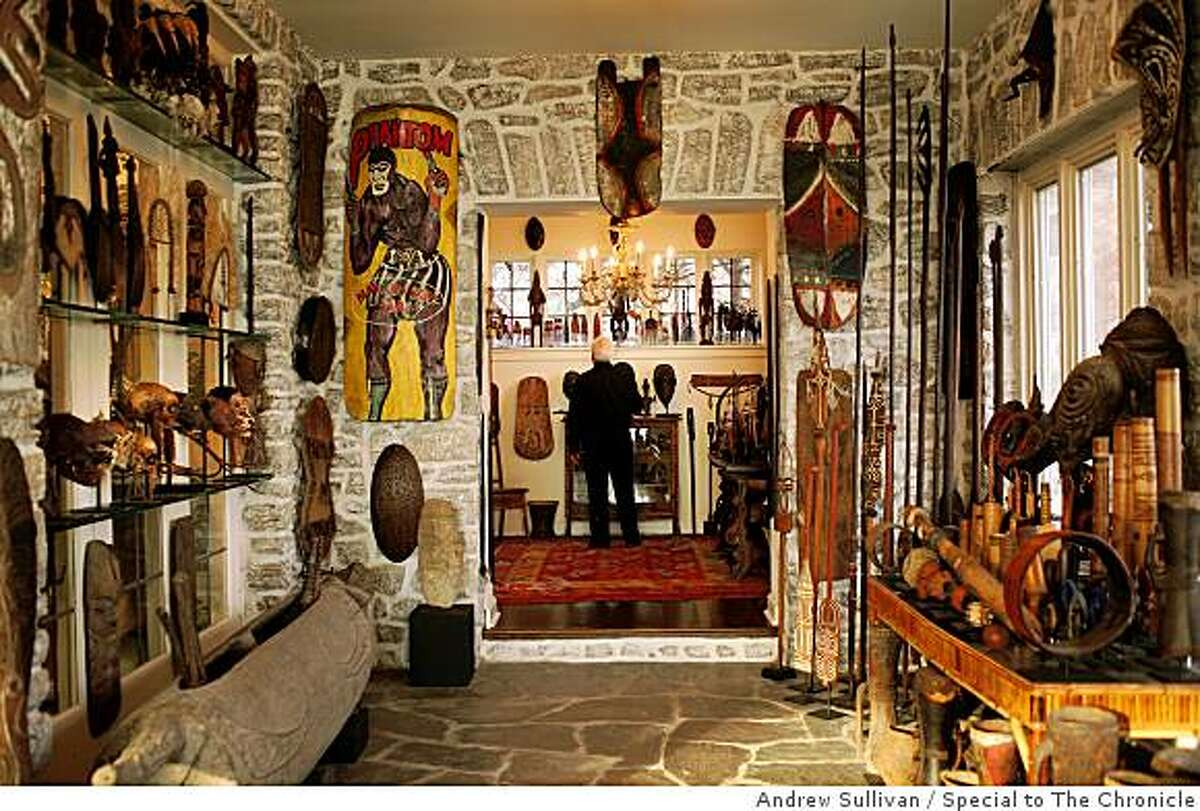 John Friede, a preeminent collector of Oceanic art, has items from Papua New Guinea decorating nearly every wall in his Rye, N.Y. home.