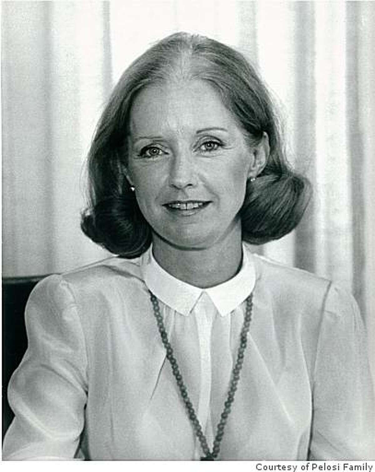 Belinda Barbara Newsom, aunt of San Francisco Mayor Gavin Newsom and President Carter's appointee as U.S. Representative to the United Nations, died Saturday morning at home in San Francisco. She was 73. Photo coutesy of the Pelosi Family.