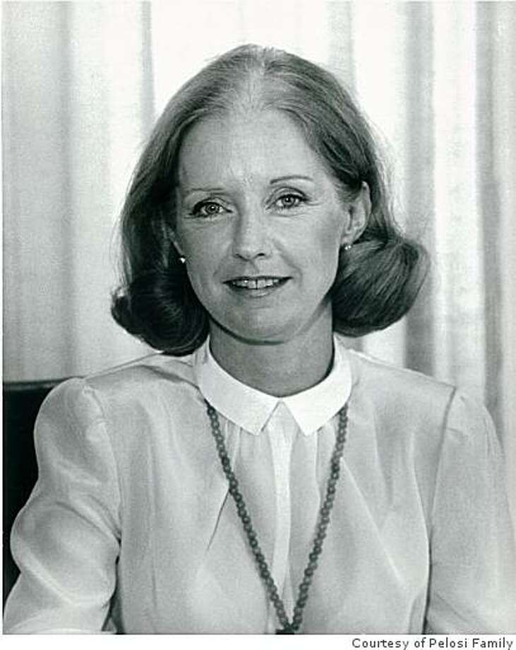 Belinda Barbara Newsom, aunt of San Francisco Mayor Gavin Newsom and President Carter's appointee as U.S. Representative to the United Nations, died Saturday morning at home in San Francisco. She was 73. Photo coutesy of the Pelosi Family. Photo: Courtesy Of Pelosi Family