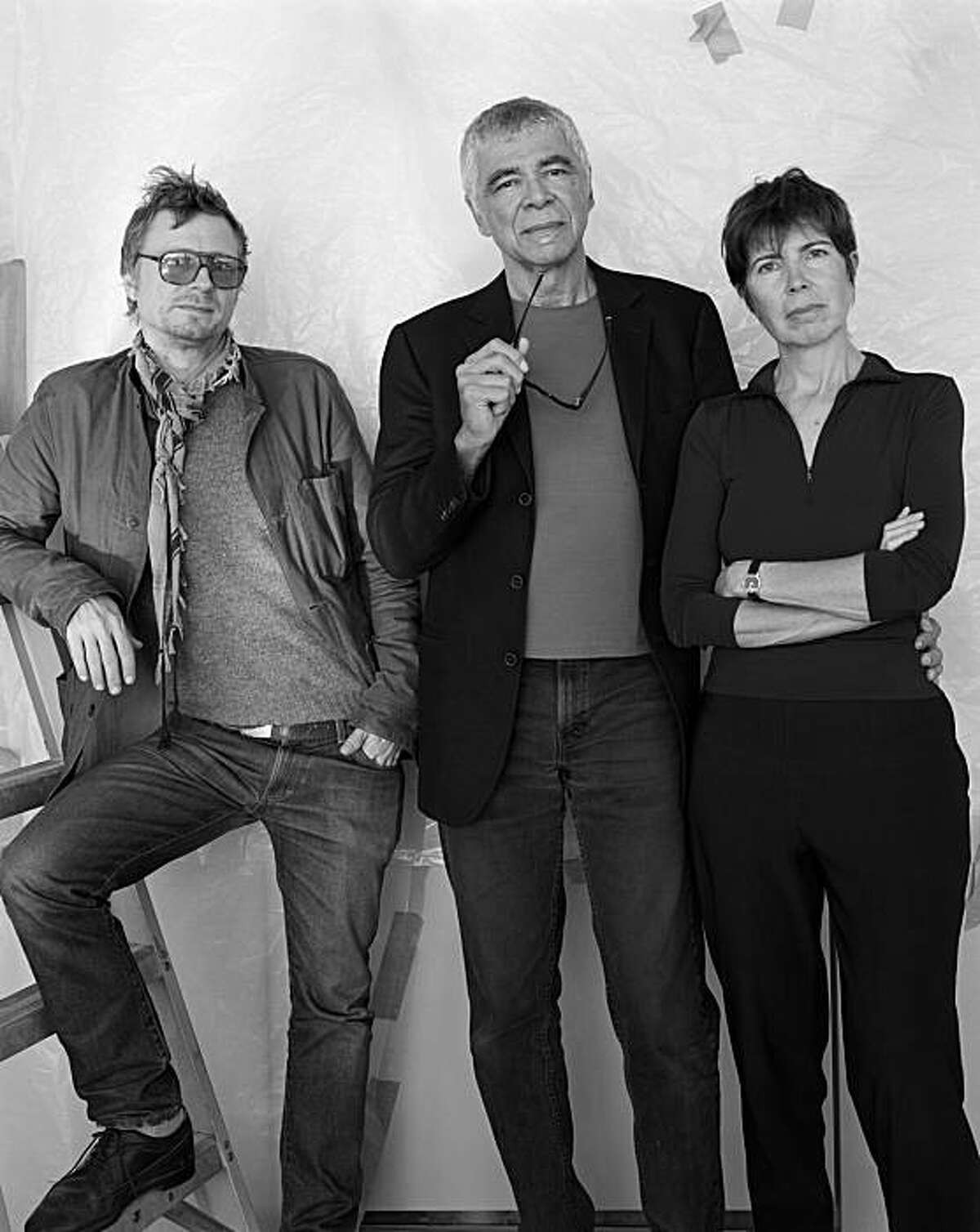 Charles Renfro, Ricardo Scofidio and Elizabeth Diller of the firm Diller Scofidio + Renfro -- New York architects so hot they're in the running for both a new wing at SFMOMA, and a new home for the Berkeley Art Museum/Pacific Film Archive.