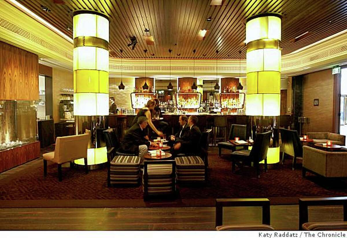 The interior at Clock Bar, which is owned by Michael Mina, in the lobby of the Westin St. Francis in San Francisco, Calif. on Wednesday, Sept. 10, 2008.