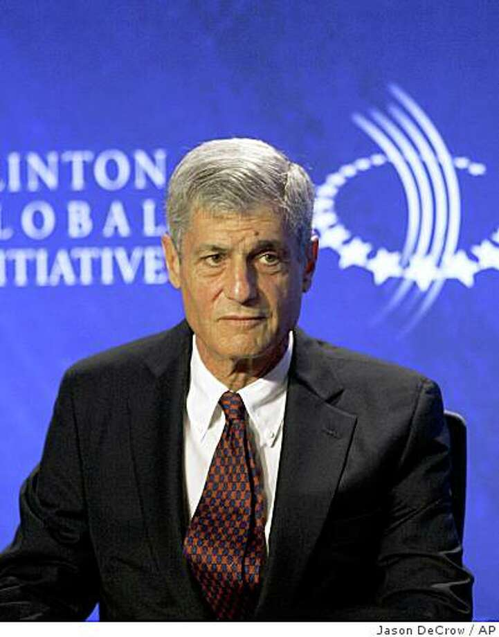 **FILE** In this file photo, former Treasury Secretary Robert E. Rubin listens during a panel discussion, Friday, Sept. 28, 2007, at the Clinton Global Initiative Annual Meeting in New York. Citigroup Inc. Chairman and Chief Executive Charles Prince, beset by the banking company's billions of dollars in losses from investing in bad debt, reportedly agreed to resign Sunday Nov. 4, 2007, and was being replaced as chairman by former Treasury Secretary Robert Rubin. (AP Photo/Jason DeCrow, file) Photo: Jason DeCrow, AP