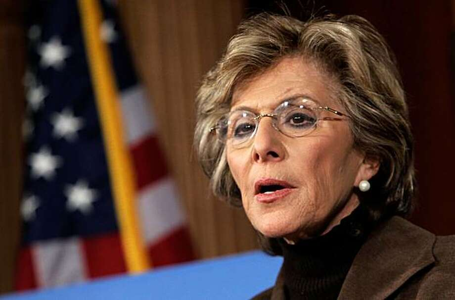WASHINGTON - FEBRUARY 04:  U.S. Sen. Barbara Boxer (D-CA) speaks during a news conference on Capitol Hill February 4, 2010 in Washington, DC. Sen. Boxer and Sen. James Webb (D-VA) introduced the Taxpayer Fairness Act, which would impose a 50% excise tax on employees who receive a bonus larger than $400,000 at firms that took $5 billion or more in Troubled Asset Relief Program (TARP) funds. Photo: Alex Wong, Getty Images