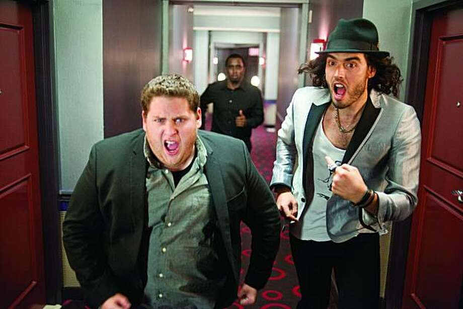 "Jonah Hill and Russell Brand in ""Get Him to the Greek."" Photo: Universal"