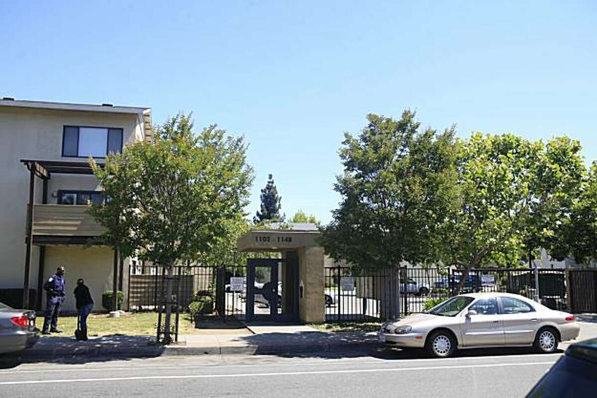 In this file photo, the the Acorn housing complex on the 1100 block of Eighth Street in Oakland. FBI SWAT team and Oakland police converged on the housing complex making