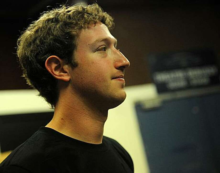 "Mark Zuckerberg, chief executive officer and founder of Facebook Inc., waits backstage at the Cannes Lions International Advertising Festival in Cannes, France, on Wednesday, June 23, 2010. Facebook Inc., the world's most popular social-networking site, is ""pretty close"" to announcing a deal with a geographic-location service, Zuckerberg said. Photographer: Antoine Antoniol/Bloomberg *** Local Caption *** Mark Zuckerberg Photo: Antoine Antoniol, Bloomberg"