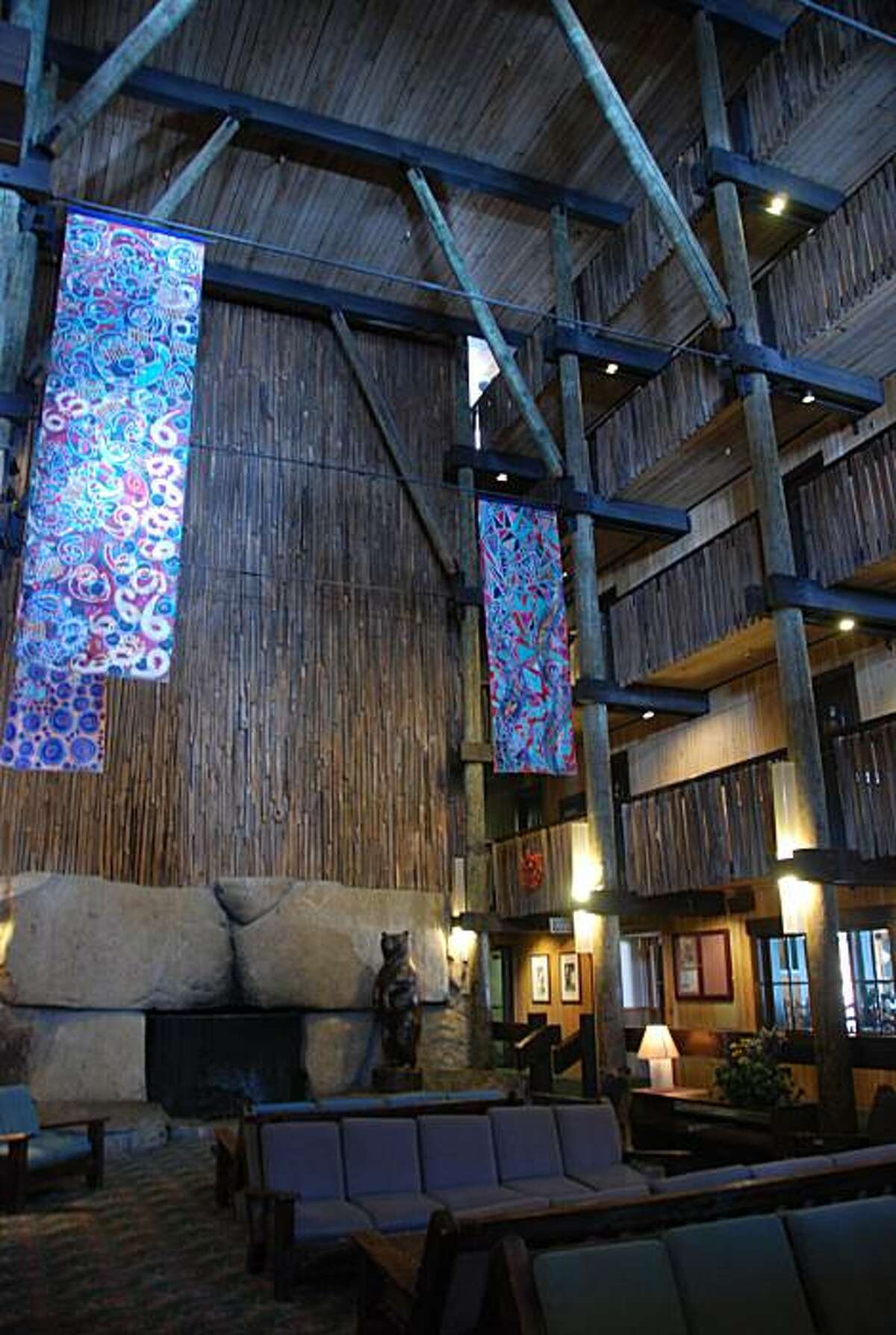 Bear Valley Lodge's Cathedral Lounge.