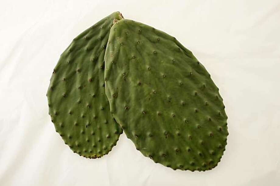 Nopales Paddles (prickly pear cactus leaves) in San Francisco, Calif., on June 9, 2010. Photo: Craig Lee, Special To The Chronicle