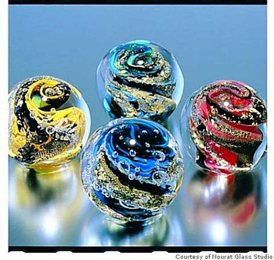 Glass spheres  from Nourat Glass Studio Photo: Courtesy Of Nourat Glass Studio
