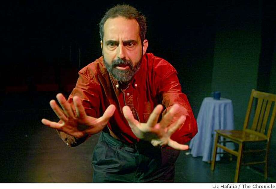 """Charlie Varon has a new solo show """"Rabbi Sam"""", where he plays about a dozen characters at The Marsh in San Francisco,  Calif., on Thursday, March 5, 2009. Photo: Liz Hafalia, The Chronicle"""