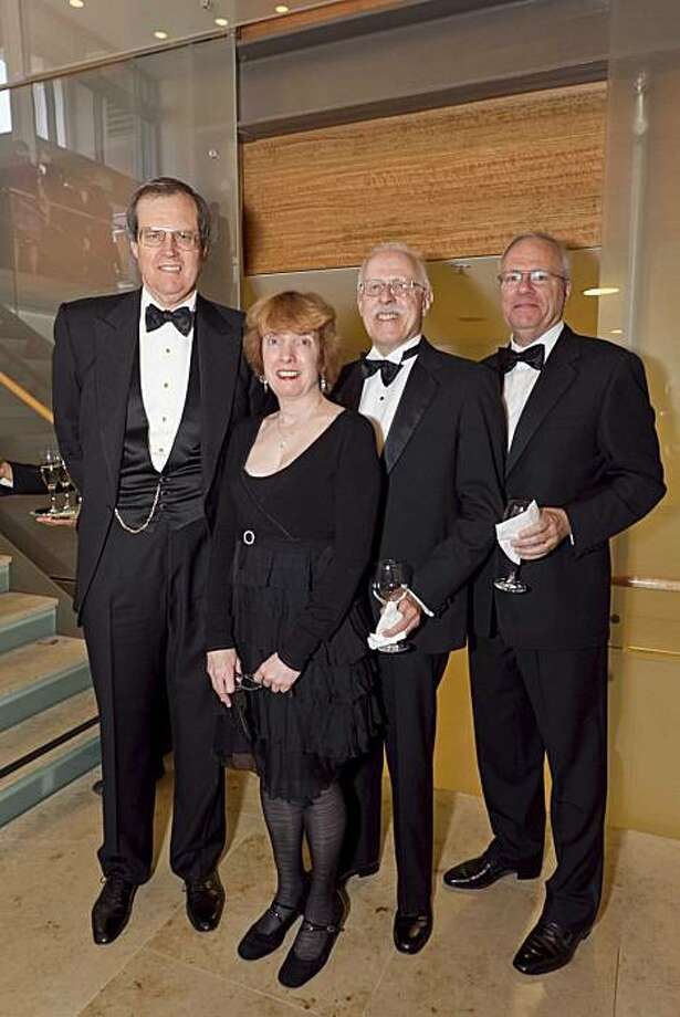 George Hume (left) with Mary Ellen Poole, Dennis Gibbons and Bob Coryat the SFCM Spring Gala. June 2010. By Drew Altizer. Photo: Drew Altizer, Special To The Chronicle