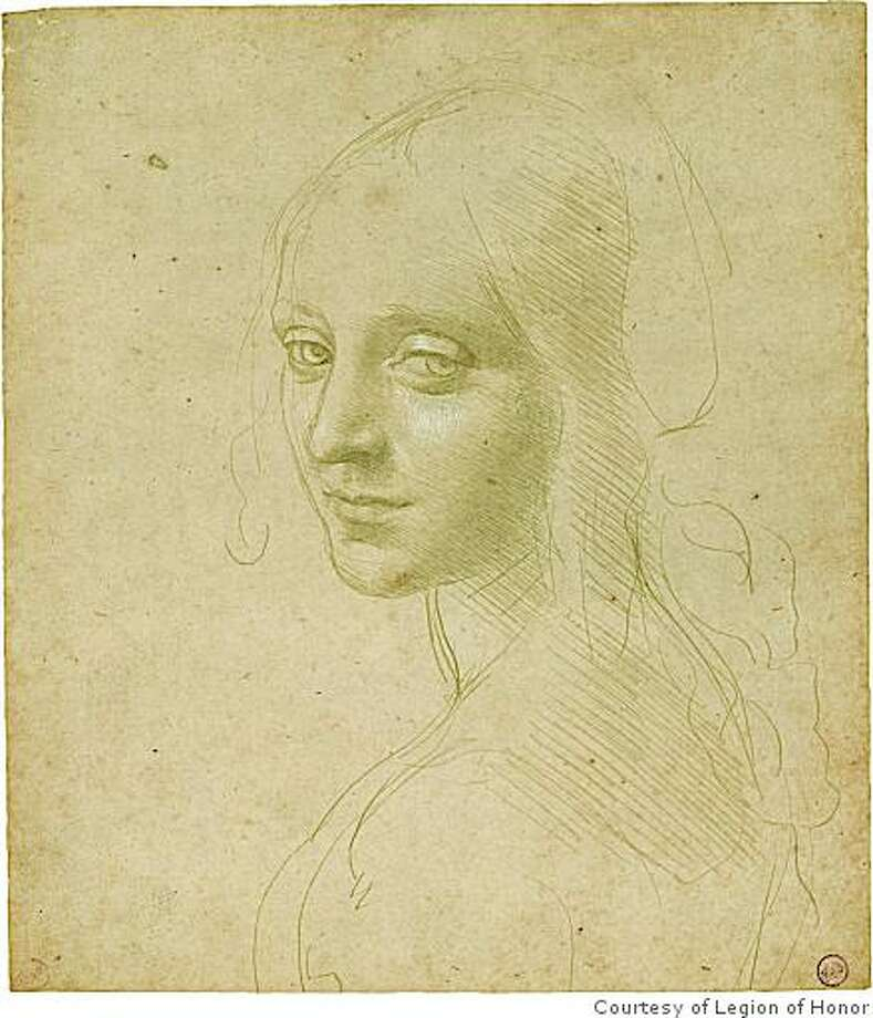 """Study of a Young Woman's Face (Angel for the Virgin of the Rocks)"" Photo: Courtesy Of Legion Of Honor"