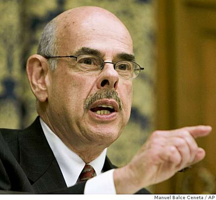 ** FILE **  In this Feb. 26, 2008, file photo, Rep. Henry Waxman, D-Calif., questions witnesses during a hearing on Capitol Hill in Washington.  President-elect Obama has said he wants to act quickly on climate change but crucial bipartisan support could erode if  Waxman succeeds at unseating Rep. John Dingell, D-Mich., as chairman of the House Energy and Commerce Committee.   (AP Photo/Manuel Balce Ceneta, File) Photo: Manuel Balce Ceneta, AP