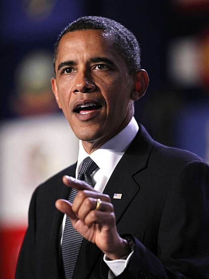 President Barack Obama speaks at a gathering of the American Nurses Association, Wednesday, June 16, 2010, in Washington. Photo: Manuel Balce Ceneta, AP